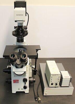 Olympus Ix71 Inverted Microscope Hammamatsu Orca-er C4742-80 Camera 5834