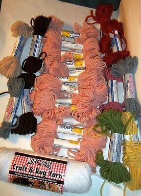 23 Acrylic Yarn - Plastic Canvas Acrylic Yarn 23 Skeins  J P Coats Sultana Aunt Lydia Many Colors