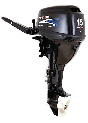 NEW 15hp Parsun 4 Stroke Single Outboard Tiller Control Short Shaft Engine