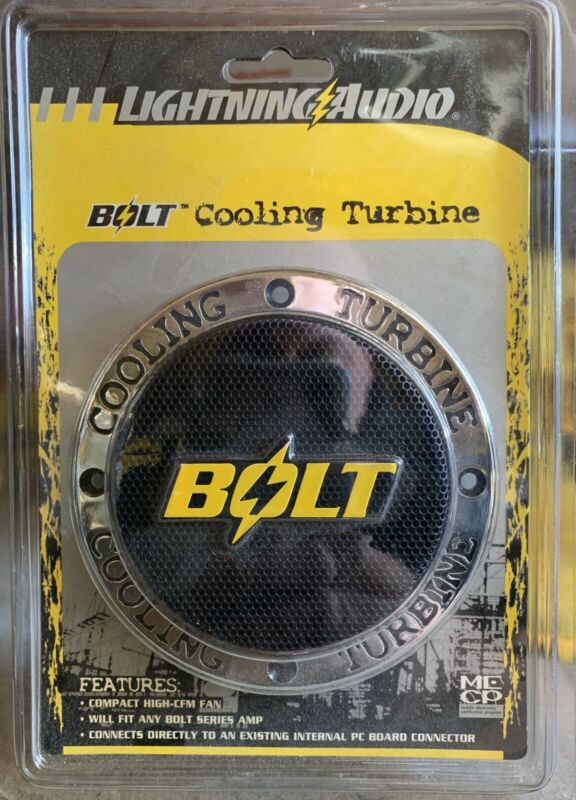 New Old School Lightning Audio Bolt Cooling turbine,RARE,NOS,NIB