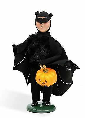 Byers Choice Halloween Boy in Bat Costume '16 Open House Exclusive Signed JB