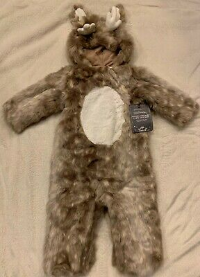 NEW Pottery Barn Kids Baby Woodland Fawn Deer Halloween Costume 12-24 Months