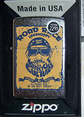 ZIPPO LEGENDARY ROAD RACE MOTORCYCLE CULTURE LIGHTER NEW Road Race Motorcycle