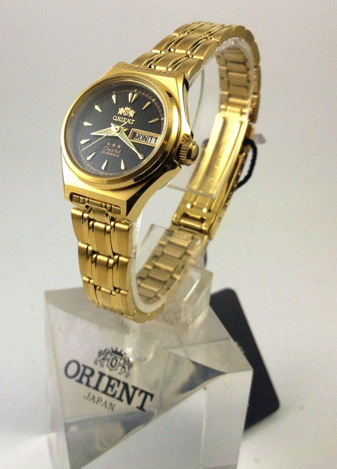 New  Orient   Gold  Tone Automatic Watch  Women's FNQ1S002B