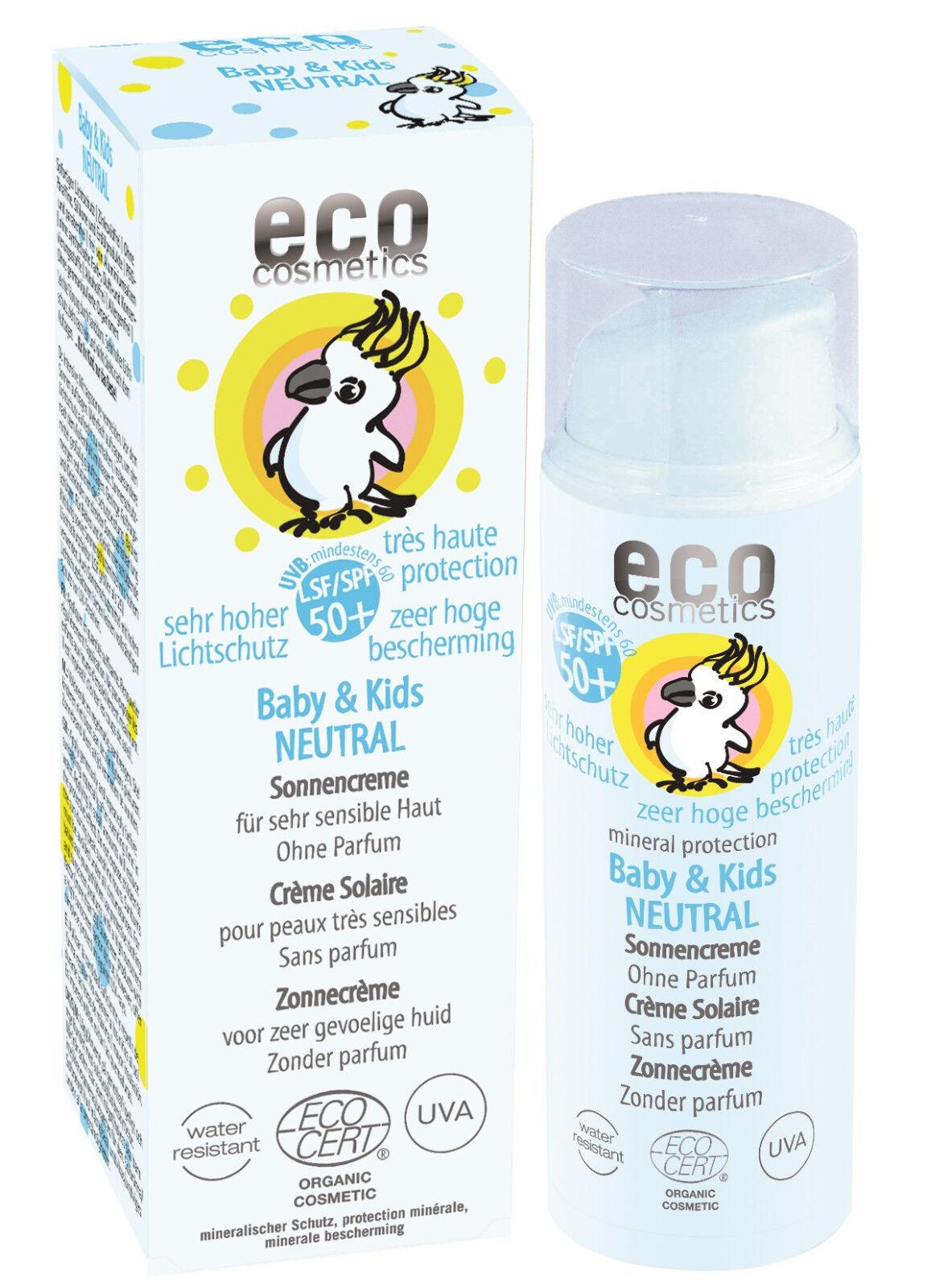 Eco Cosmetics Baby & Kids Sonnencreme Neutral LSF 50+ 50ml-Naturkosmetik