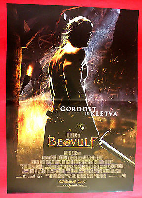 BEOWULF 2007 RAY WINSTONE ANGELINA JOLIE R. ZEMECKIS UNIQUE SERBIAN MOVIE POSTER
