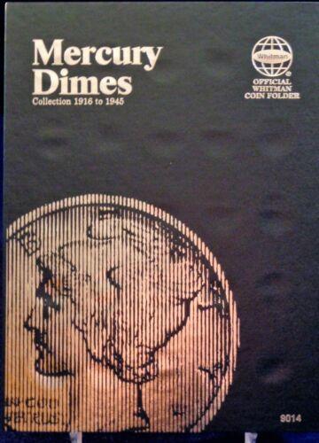 Whitman Mercury Dime 1916-1945 Coin Folder,  Album Book #9014