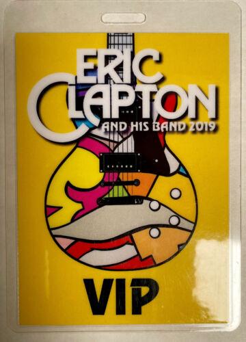 ERIC CLAPTON 2019 VIP LAMINATED BACKSTAGE PASS YELLOW
