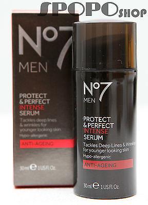 Perfect Intense Beauty Serum (BOOTS No 7 Protect & Perfect MEN Intense Beauty Serum (30ml) 100% Authentic)