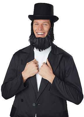 Abraham Lincoln Honest Abe Getup Hat with Attached Beard Costume Kit