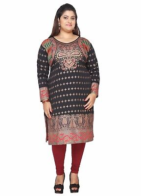 Uk Stock  Plus Sizes Women Indian Kurti Tunic Kurta Top Shirt Dress Eplus105a