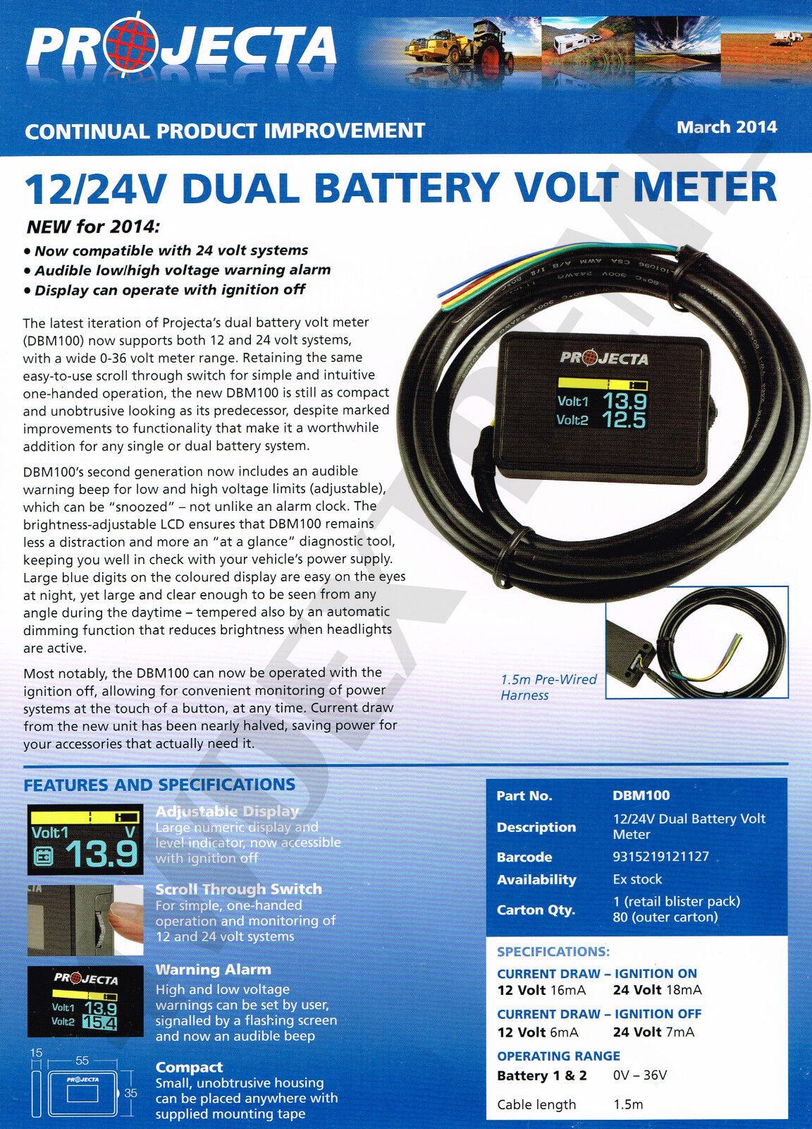 12 Volt Battery Monitoring System : Projecta dbm dual battery system monitor volt meter