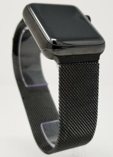 Genuine Space Black Apple Watch Milanese Loop Band - 42MM - Authentic OEM