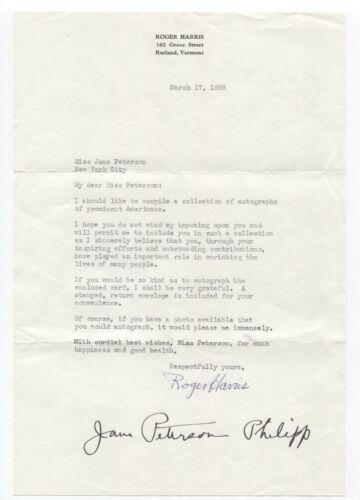 Jane Peterson Signed Letter Autographed Vintage Signature Artist Painter