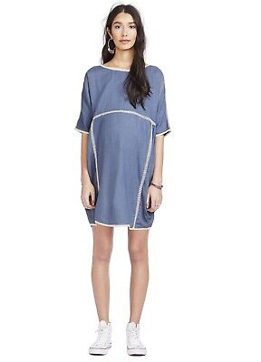Hatch Maternity Women's THE RIO DRESS Storm/Blue Size 1 (S/4-6) NEW
