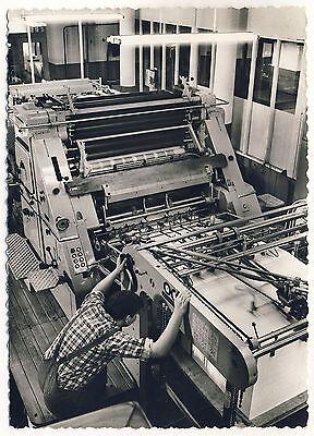 Druckerei MABEG Systeme Mörfelden-Walldorf Bogenanleger Maschine * Foto um 1950