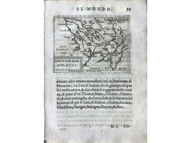 """""""BURGUNDIE DUCATUS"""", Abraham Ortelius, ca.1667."""