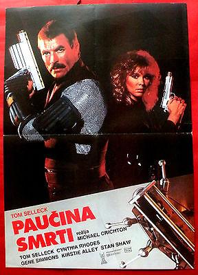 RUNAWAY 1984 SELLECK MICHAEL CRICHTON CYNTHIA RHODES SCI-FI  EXYU MOVIE POSTER