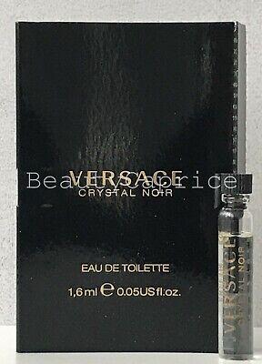 1 Sample x1.6ml Versace Crystal Noir Eau de Toilette Spray Vial Free P&P