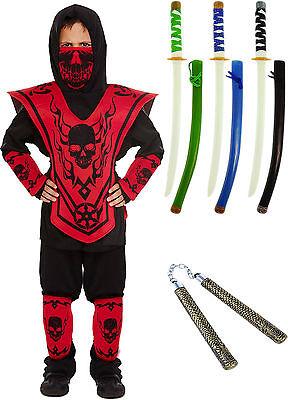 Faschingskostüm Ninja oder Zubehör Ninjago rot Auswahl Schwert - Grünes Ninja Kostüm