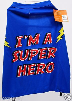 Halloween Top Paw Blue I'm a Super Hero Cape Pet Dog Costume Size XSmall NWT