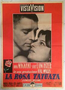 MANIFESTO-2F-LA-ROSA-TATUATA-ANNA-MAGNANI-LANCASTER-1-EDIZIONE-1956-RARO-CULT
