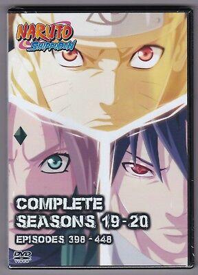 Naruto Shippuden Episodes 398-448 in English / Japanese Seasons 19 - 20 on DVD