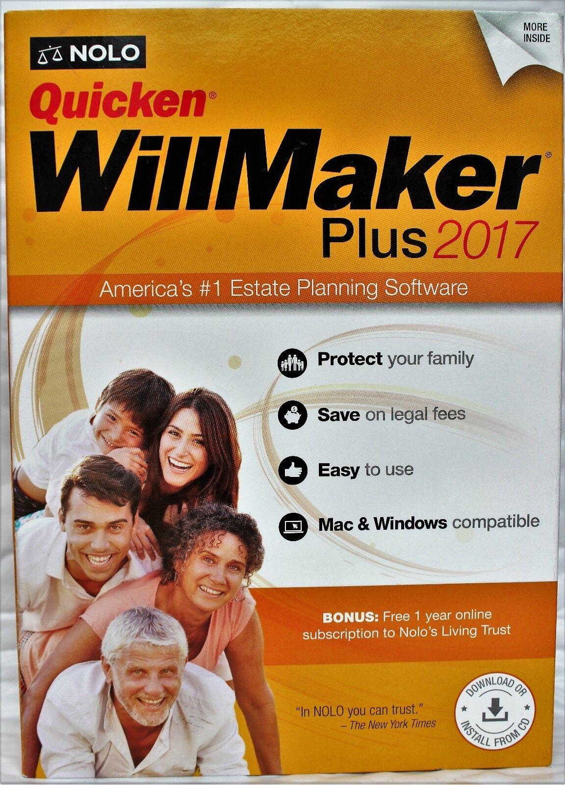 Quicken Willmaker Plus 2017 Edition Cd Mac/windows Brand ...