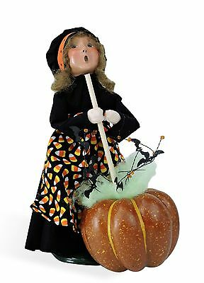 Jb Halloween (Byers Choice Halloween Witch GIRL Pumpkin Cauldron '16 Open House Excl Signed)