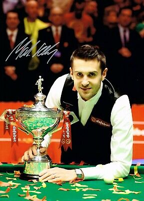 SALE MARK SELBY SNOOKER HAND SIGNED PHOTO AUTHENTIC + COA - 16x12