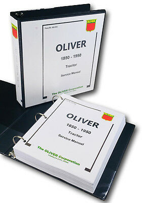 Oliver 1850 1950 Tractor Service Repair Technical Shop Manual