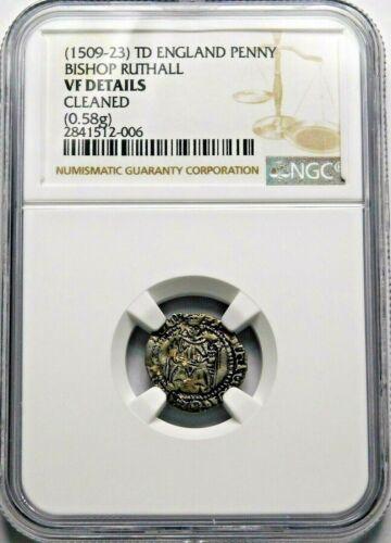NGC VF. TUDOR. Henry VIII. Stunning Penny. 1509-1523 England. Silver Coin.