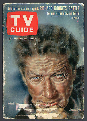 1963 Richard Boone is Paladin on Have Gun,Will Travel/Tv magazine Cover ONLY