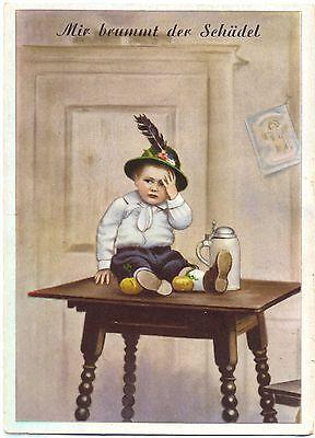 Junge in Trachtenkleidung, Bier, Bierkrug, ca. 50er Jahre ()