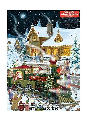 Whistle Stop Christmas Chocolate Advent Calendar Filled With 24 Milk Chocolat...