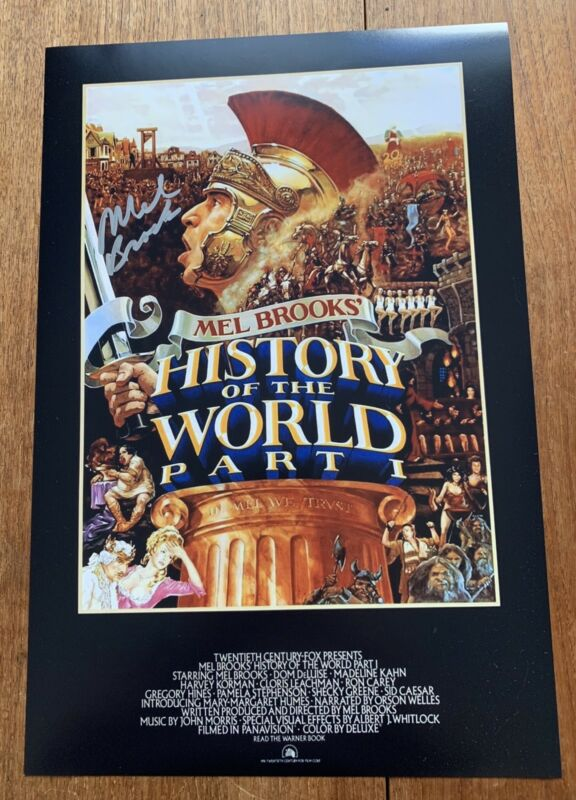 Mel Brooks Signed 12x18 Photo Poster History Of The World Part 1 Director S
