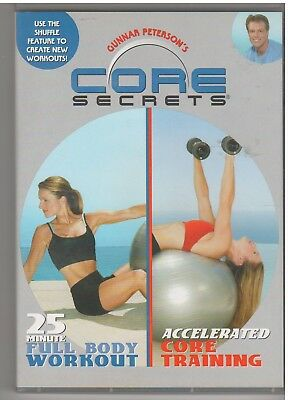 CORE SECRETS 25 MINUTE FULL BODY WORKOUT/ACCLERATED CORE TRAINING (DVD,