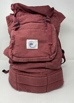 Original Ergobaby ERGO Burgundy Baby Infant Carrier