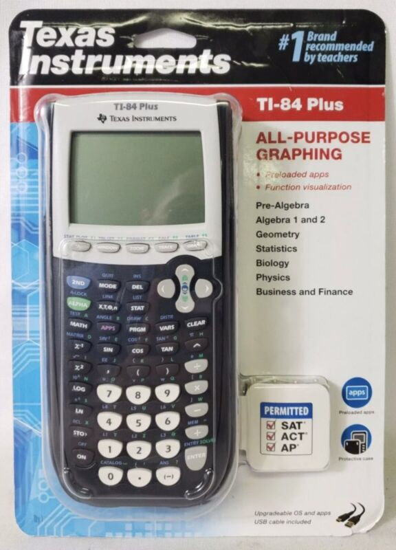 Texas Instruments TI-84 Plus Graphing Calculator, 10-Digit LCD
