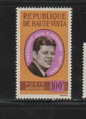 BURKINA FASO #C19 1964 JFK MINT VF NH O.G