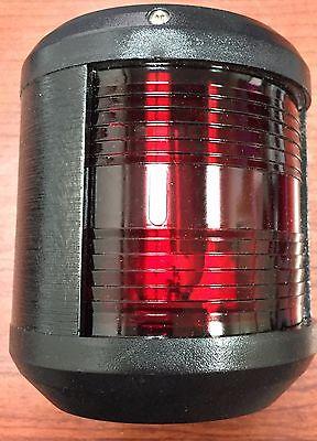 Aqua Signal 41320-1, S-41 Port Side Light. 24v. Red Lens / Black Housing