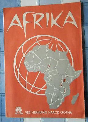 Karte Afrika auf dem Weg zur Unabhängigkeit 1965 VEB HERMANN HAACK GOTHA
