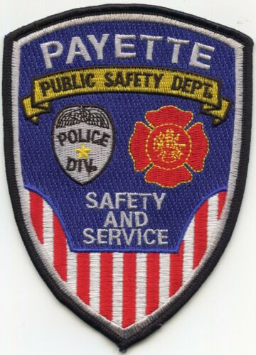 PAYETTE IDAHO ID PUBLIC SAFETY FIRE POLICE PATCH
