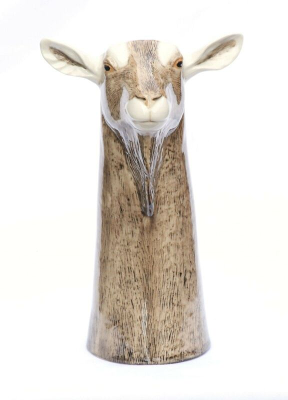 Goat Table Vase NEW  by Quail Pottery ceramic china Gift Boxed