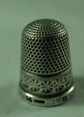 Antique Silver Thimble HG&S Chester 1912 Size 14