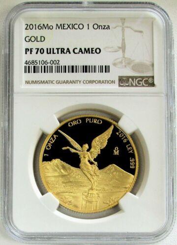 2016 MEXICO 1 ONZA GOLD LIBERTAD PROOF NGC PF70 UC - MEXICAN LIBERTAD 1 oz. GOLD