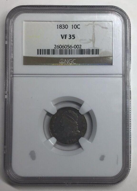 1830  Capped Bust Dime Medium  NGC VF35