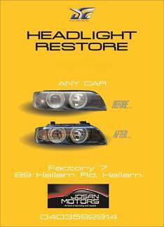 Headlight Restore, $80