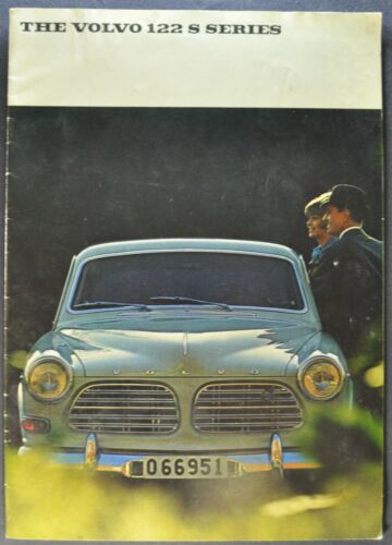 1967 Volvo 122S Catalog Brochure Sedan Wagon B18 Original 67