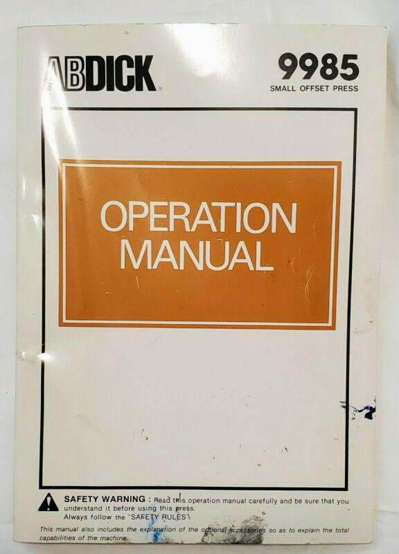 ABDick 9985 Operation Manual